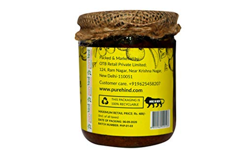 41dnYxxpYYL - Purehind Himalayan Pickle - Mango Pickle, Mix Pickle, Lemon Pickle (300 g Each) | Achaar Made in Traditional Way Mango, Mixed,Jackfruit,khata metha Pickle (Amla Pickle)