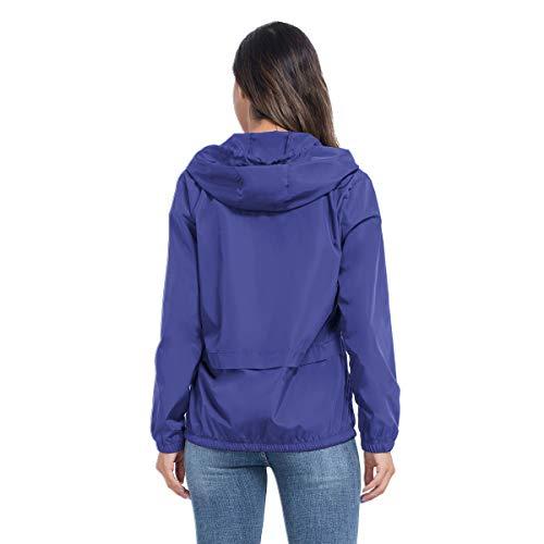 JTANIB Women's Lightweight Hooded Waterproof Raincoat Windbreaker Packable Active Outdoor Rain Jacket 16 Fashion Online Shop gifts for her gifts for him womens full figure