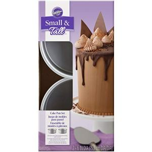 Wilton Small & Tall Layered CakeTin Set, 15.2cm x 5cm (6in x 2in), 2 pieces 41dtCmV7D7L