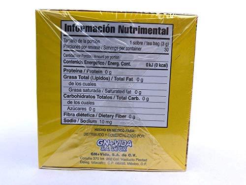 SmileMore Pinalim Tea/Te de Pinalim Mexican Version- Pineapple, Flax, Green Tea, White Tea - 30 Day Supply 4