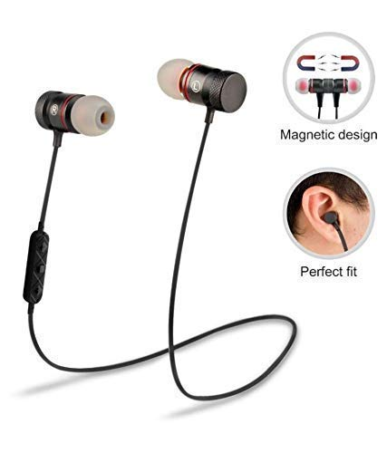 41dwYRaz1sL agrd Wireless Magnet Bluetooth Earphone Headphone with Mic, Sweatproof Sports Headset, Best for Running and Gym, Stereo Sound Quality for All Smartphones