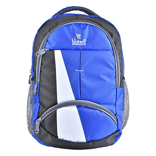 41e1ZW6pswL - BLUTECH Stylish Collage Bags & Laptop Bags 36 liters Waterproof Royal Blue Backpack for Boys & Mens