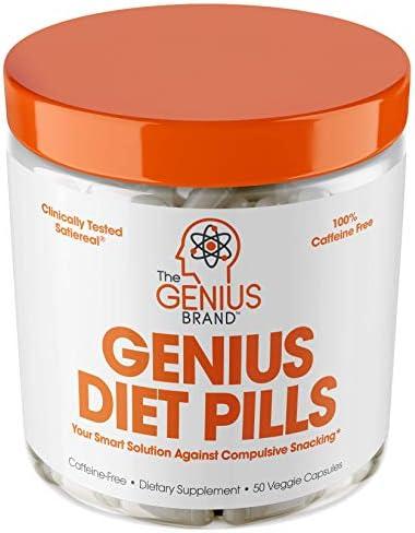 Genius Diet Pills – The Smart Appetite Suppressant That Works Fast for Safe Weight Loss, Natural 5-Htp & Saffron Supplement Proven for Women & Men – Cortisol Manger + Thyroid Support, 50 Veggie Caps 3