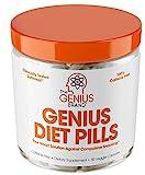 Genius Diet Pills - The Smart Appetite Suppressant That Works Fast for Safe Weight Loss, Natural 5-HTP & Saffron Supplement Proven for Women & Men - Cortisol Manger + Thyroid Support, 50 Veggie Caps