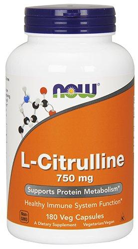 NOW L-Citrulline 750 mg, 180 Veg Capsules