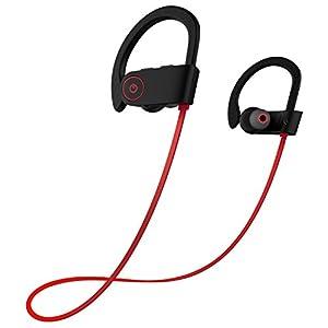 Bluetooth Headphones, Otium Best Wireless Sports Earphones w/ Mic IPX7 Waterproof HD Stereo Sweatproof In Ear Earbuds for Gym Running Workout 8 Hour Battery Noise Cancelling Headsets