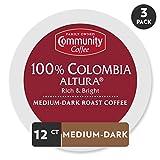 Community Coffee Colombia Altura Medium Dark Roast Single Serve, 36 Ct Box, Compatible with Keurig 2.0 K Cup Brewers, Medium Full Body Rich Bright Taste, 100% Arabica Coffee Beans