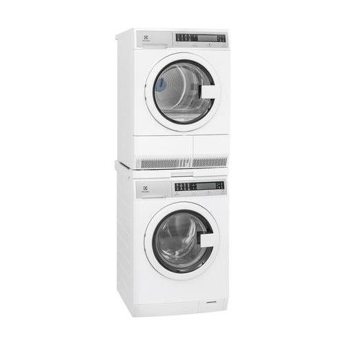 Electrolux White Compact Front Load Laundry Pair with EFLS210TIW 24' Washer, EFDE210TIW 24' Electric Dryer & STACKIT24 Stacking Kit