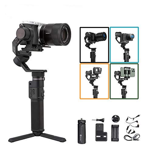 FeiyuTech-G6-Max-Camera-Gimbal-Stabilizer-for-Mirrorless-CameraAction-CameraPocket-CameraSmartphonefor-Sony-ZV1-a6300a6500-Canon-EOS-200D-M50-PanasonicGoPro-Hero-8-7-6-5-iPhone-Payload-24lb