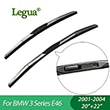Wipers Hukcus car winscreen Wiper blades for BMW 3 Series E46(2001-2004),20'+22',3 Section Rubber, windshield, wiper rubber - CN