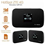 ZTE MF64 - Unlock, 21mbps 4G Mobile WiFi Hotspot (USA, Caribbean and Latin Bands)