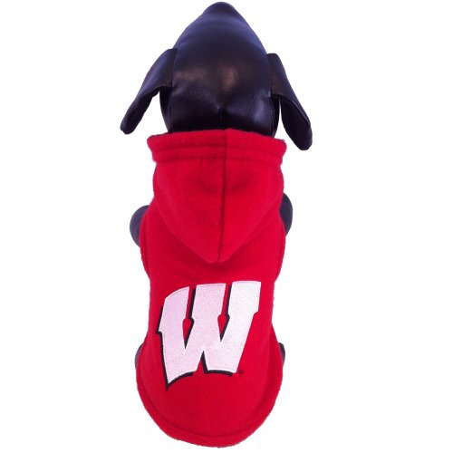 NCAA Collegiate Polar Fleece Hooded Dog Jacket (Tiny) 1
