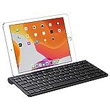 OMOTON Ultra-Slim Bluetooth Keyboard with Sliding Stand,Compatible with iPad 10.2/9.7, iPad Air 10.5, iPad Pro 11/12.9, iPad Mini 5/4, iPhone and Others,Black