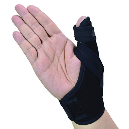 Thumb Spica Splint- Thumb Brace for Arthritis or Soft Tissue Injuries, Lightweight and Breathable, Stabilizing and not Restrictive, a U.S. Solid Product (Small/Medium)