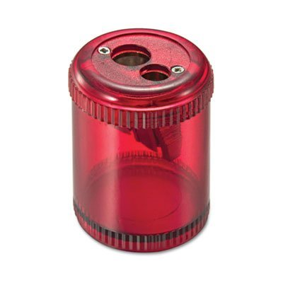 Officemate Pencil/Crayon Sharpener, Twin, Red (OIC30240) (1)