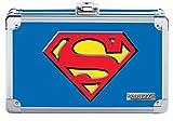 Vaultz Superman Pencil Box, 8.5 x 2.5 x 5.5 Inches, Blue (VZ00879)