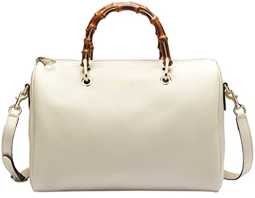 41ePw5O1bbL Made in Italy Light white leather / Light fine gold hardware Embossed gold gucci trademark
