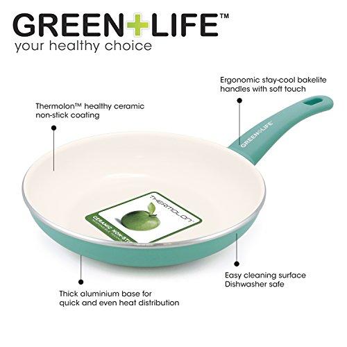 GreenLife Ceramic nonstick open fry pan set