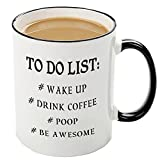 Funny to do list mug, Humorous Birthday Gifts for Men Women Coworkers,Dad and Mom, Husband or Wife, Boyfriend and Girlfriend