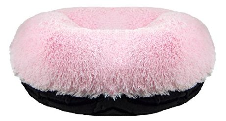 Enjoyable Bessie And Barnie Signature Black Puma Bubble Gum Luxury Shag Extra Plush Faux Fur Bagel Pet Dog Bed Multiple Sizes Gmtry Best Dining Table And Chair Ideas Images Gmtryco