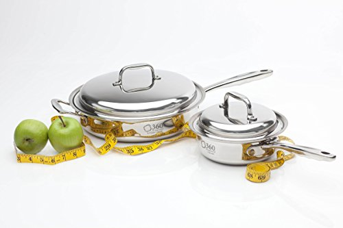 360 Cookware Stainless Steel Cookware Essentials Set. American Made,...