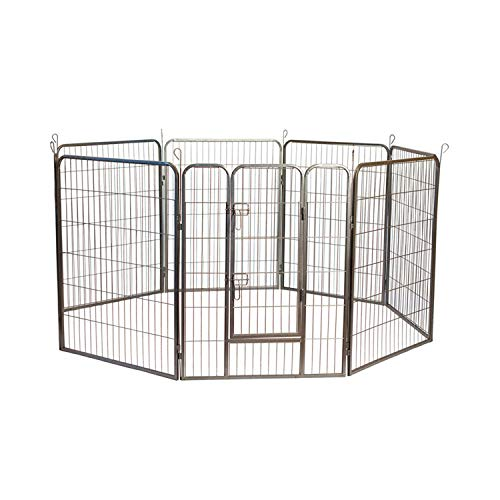 "Iconic Pet Heavy Duty Metal Tube Pet Exercise and Training Playpen, 40"" Height"