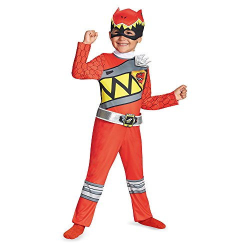 Disguise Red Ranger Dino Charge Toddler Classic Costume, Small (2T)