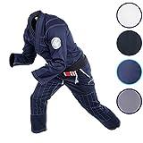 Gold BJJ Jiu Jitsu Gi - Ultra Lightweight Men's Aeroweave - Preshrunk Brazilian Jiu Jitsu Uniform for Men (Navy, A3)