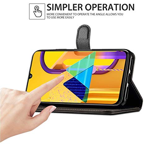 WOW Imagine Galaxy M21 / M30s Flip Case | Leather Finish | Inside TPU with Card Pockets & Stand | Magnetic Closure | Shock Proof Wallet Flip Cover for Samsung Galaxy M30s / M21 - Black 3