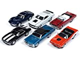 Muscle Cars USA 2018 Release 4, Set A of 6 Cars 1/64 Diecast Models by Johnny Lightning JLMC016 A