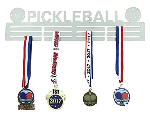 Pickleball Marketplace | This Pickleball Medal Holder is Forged from Stainless Steel and Makes a Great Statement. Makes a Great Piece of Wall Art or Gift to be Proud of.