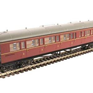Hornby R4766 BR Collett Coach Corridor Composite LH W6138W Train Model Set, Maroon 41ejSVRkR1L