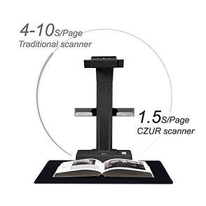 CZUR-Professional-Document-Scanner-ET18-P-Fast-Recognition-Scanner-18MP-High-Definition-A3-Size-Capture-186-Languages-OCR-Patented-Laser-Based-Image-Flattening-Technology