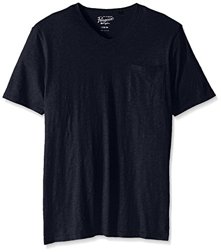 41enD 8B5UL Relaxed V-neckline t-shirt in with short sleeves and patch pocket at chest Big and tall sizing