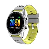 FEDULK Smart Watch Sports Fitness Calorie Heart Rate Tracker Bluetooth Smart Wrist Watch for iOS and Android(Yellow)