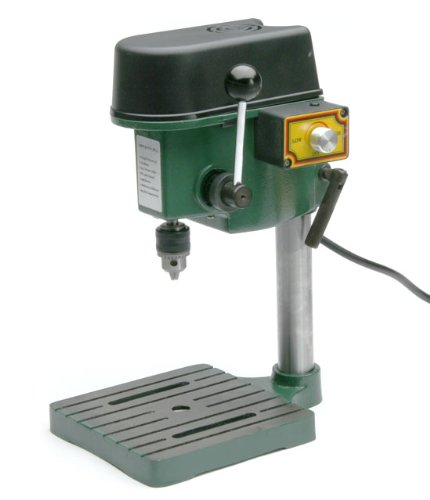 TruePower 01-0822 Precision Mini Drill Press with 3 Range Variable Speed Control 0-8500 Rpm, 1/4-Inch