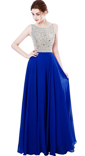 859dfdd1d6a MEILISAY Women s Sparkly Jeweled Prom Dresses Chiffon Long Evening Formal  Gowns Beaded
