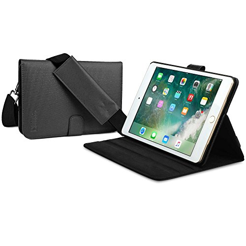 Cooper Magic Carry II Pro Case for iPad Mini 4 | Protective Tablet Folio Cover w Handle & Stand | Carrying Case, Business School Travel (Black)