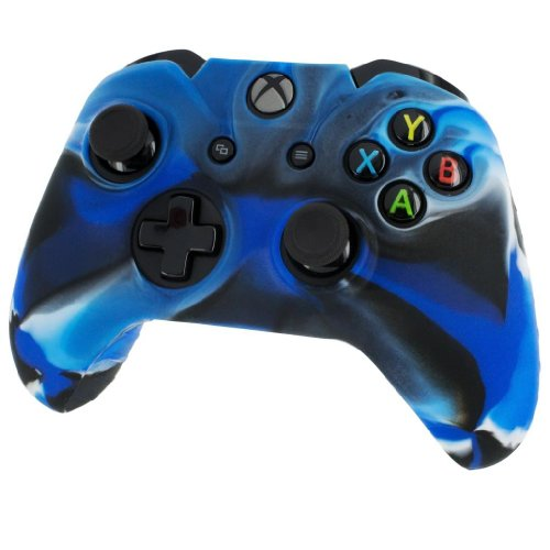 Silicone Skin Protective Cover for XBOX One Controller [Camouflage Blue]