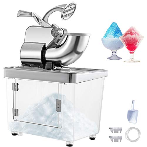 VEVOR-110V-Commercial-Electric-Ice-Shaver-440lbsh-Heavy-Duty-Snow-Cone-Maker-with-Dual-Blades-Stainless-Steel-Slush-Margarita-Machine-for-School-Church-Restaurants-Bars-Sliver