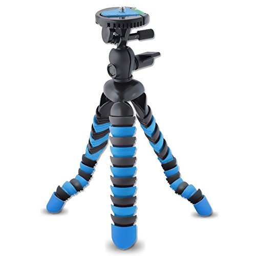 AVAWO Universal 12' Inch Flexible Tripod Wrapable Leg Quick Release Plate for GoPro, iPhone 7 6 6S Plus 5S Samsung note S7 S6 Smartphone + GoPro Tripod Mount + Cell Phone Tripod Adapter