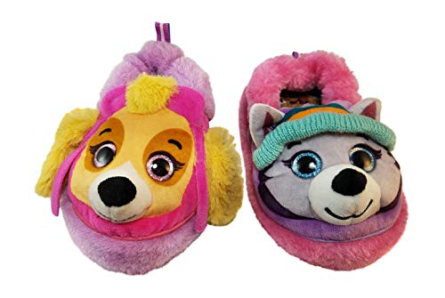 Paw Patrol Slippers for Girls with Skye and Everest (M 7-8) Pink