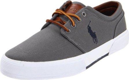 Polo Ralph Lauren Men's Faxon Low Sneaker, Grey, 9 D US