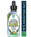 Ultra Methyl B12 - Vitamin B12 Sublingual Liquid Drops (as Methylcobalamin) - Maximum Absorption - Help Fights fatigue and provide natural energy* - Vegan, Non-GMO - Strawberry flavor - 4oz