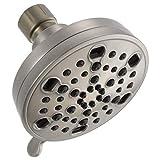 Delta 5-Spray 4 in. H2Okinetic Shower Head in Brushed Nickel-75559SN