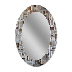Headwest Windsor Oval Tile Wall Mirror, 21″ x 31″