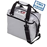 AO Coolers Sportsman Vinyl Soft Cooler with High-Density Insulation, Silver, 12-Can