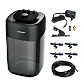 REPTIZOO 2.6 Gallon Extremly High Pressure Silent Pump Reptile Fogger Terrariums Humidifier Fog Machine Misting Rainforest Sprayer System Tank with 4PCS Nozzles for a Variety of Reptiles/Amphibians