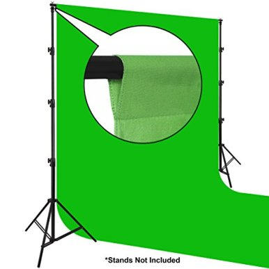 Prism-Backdrop-by-Ravelli-10x12-Chromakey-Green-Muslin-Photo-Video-Background-100-Cotton-150GSM-Weight-Flocked-on-One-Side-9x108-after-pre-shrinkage