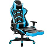 Product review for Furmax Gaming Chair High Back Racing Chair, Ergonomic Swivel Computer Chair Executive PU Leather Desk Chair With Footrest, Bucket Seat and Lumbar Support (Blue)